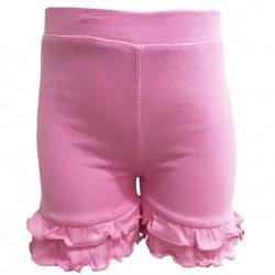 Annloren Littlebig Girls Pink Stretch Cotton Knit Ruffled Shorts 4/5t/6/6x/7/8