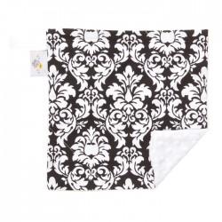 "Black Dandy Damask Large Baby Blanket (27"" x 29"")"